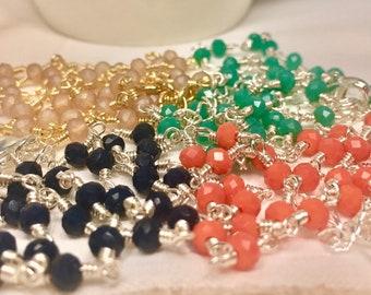 Delicate Crystal Necklace, Minimalist Necklace, Bridesmaid Gift, Crystal Necklace, Short Necklace, Simple Necklace