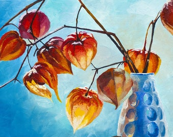 Physalis, oil painting