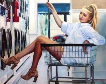 Laundry Day - Megan Burak Original Oil Painting