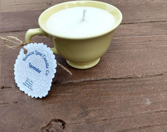 Lavender - Soy Wax Tea Cup Candle