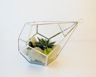 Terrarium, Glass Terrarium, Teardrop, Large Hanging Terrarium, Geometric Terrarium for Indoor Gardening, Plant holder. MADE TO ORDER