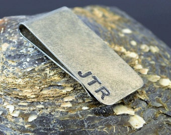 Rustic Brushed Money Clip, Money Clip, Customized Money Clip, Groomsmen, Father's Day, Graduation Gift for Male, Mans Birthday, Gift for Him