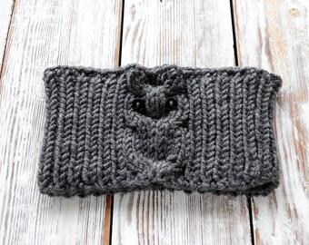 Knitted OwL Headband