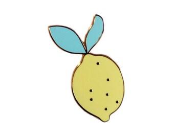 PIN Lemon - Zitrone - worden - Juwel - Abzeichen - pin