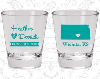 Kansas Shot Glass, Kansas Shot Glasses, Kansas Glass, Kansas Glasses, Kansas Glassware (115)