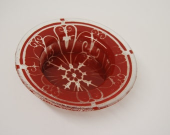 Art Glass Wine Coaster or Dip Dish
