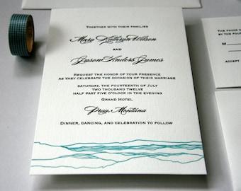 wedding letterpress invitation Tuscany