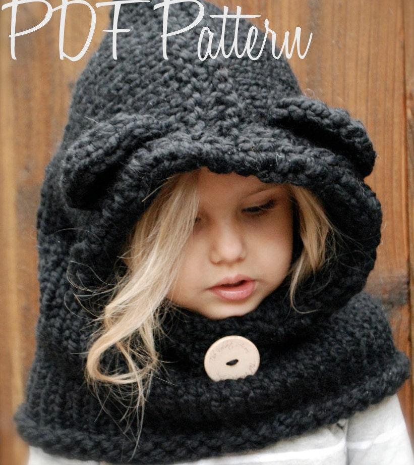 KNITTING PATTERN - Burton Bear Cowl (6/9 month - 12/18 month ...