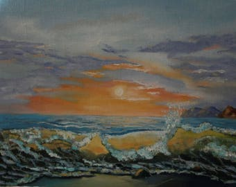 Sea Original Oil painting handmade