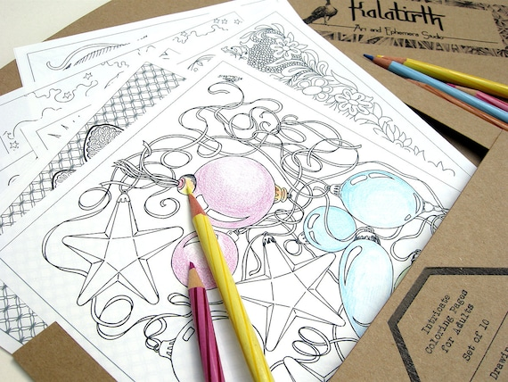 Intricate Coloring Pages For Adults : Coloring pages portfolio for adults mini coloring pages
