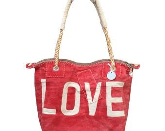 Ali Lamu Medium Weekend Bag Red Love Natural