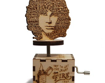 The Doors Music Box - Light My Fire - Laser cut and laser engraved wood music box. Perfect gift, memorabilia or collectible