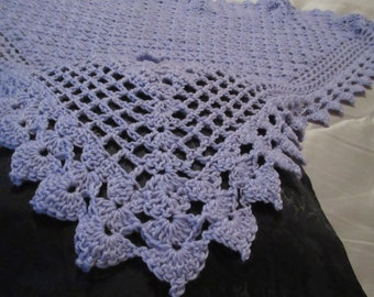 Crochet Pattern:  Petals Border for Triangle Shawl