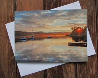Landscape Greetings card C5 - Sunset Lake