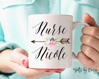Nurse Mug, RN gift, doctor Nurse Gifts,Gifts for Nurse, Nurse Coffee Mug, Personalized Mug, Nurse Appreciation, Registered Nurse Mug, m-211