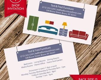 Furniture Interior Designer Business Card (Free Shipping)