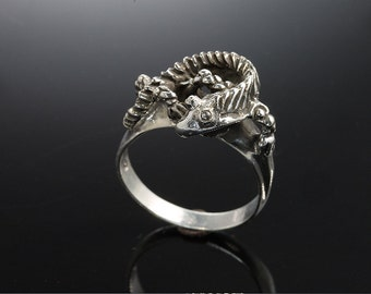 Sterling Silver Lizard Ring by Cavallo Fine Jewelry