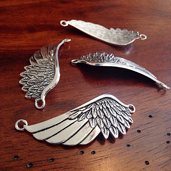 4 large wing pendants curved connector bracelet charms wing 4 large wing pendants curved connector bracelet charms wing connector charms connector pendants craft and jewelry supplies findngs from dorysfindings mozeypictures Images