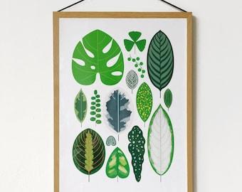 A3 Leaves Print