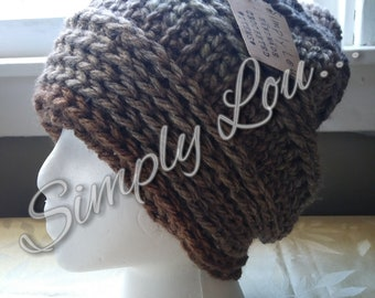 Crochet Slouchy Hat - READY TO SHIP