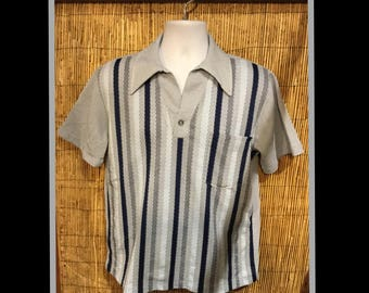 Vintage 1960s men's acrylic knit shirt