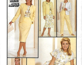 Simplicity 7880 Misses Blouse, Skirt, Pants And Semi-Fitted Jacket Pattern, Size 10, UNCUT