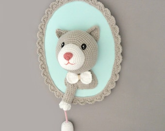Trophy cat and mouse Mint handmade