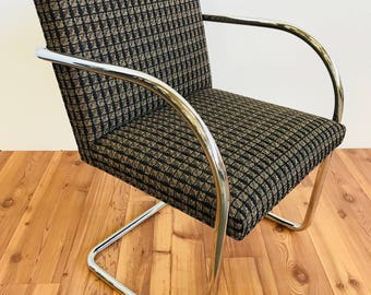 Replica Knoll Brno Tubular Side Chair (Sienna Patterned)