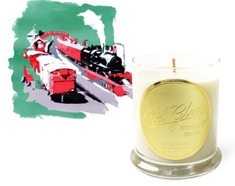 Goathland Station - Handcrafted Old Glow Candle