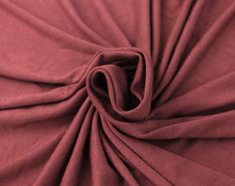 Pink Deep Ultra-Heavy Weight Rayon Spandex Jersey Knit Stretch Fabric by the Yard - Style 407
