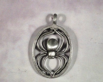Oval Framed Spider pendant