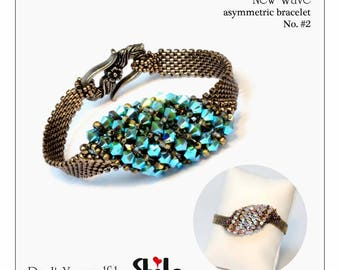 step by step INSTANT download Pdf beading PATTERN New Wave Bracelet No. #2