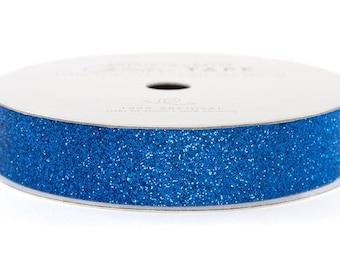 "Glitter Tape Marine Blue - 5/8"" x 3 yds - 100% Archival"