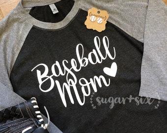 Baseball Mom Raglan and Earring Set
