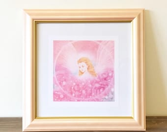 """Printable """"Fairy"""" art - Rose Fairy -  angel art, angel wings, angel feather : Instant  Download"""