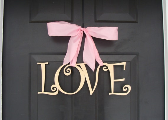 Love Wooden Letters, Valentine's Day Decor, Valentine's Day Wreath, Wedding Sign, Wood Sign, Door Decoration, Wedding Decor  READY TO SHIP