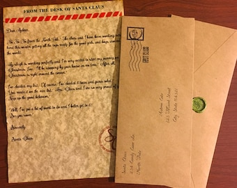 Letter from Santa with Envelope Personalized