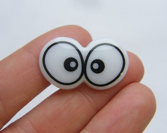 10 Black and white plastic toy doll making eyes ST13