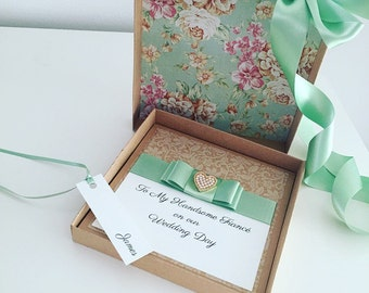 Luxury Grooms Card, Rustic Wedding Gift, Personalised Card for Grooms, Gift for Grooms, Groomsmen, Best Man, Father of the Bride