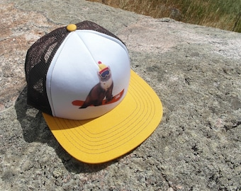 Snowboard Weasel- Kids Trucker Hat. Inspired by Youth and Designed in Colorado!