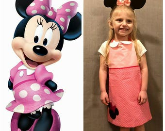 Minnie Mouse Inspired Dress Up Apron