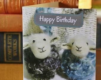 Herdwick Sheep Birthday Card - Blue Sheep Birthday Card - Card for sheep lovers
