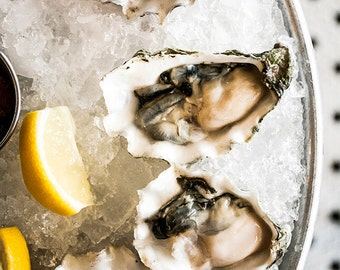 Food Photography, Oysters, Still Life, Food Art, Home Decor, Restaurant Decor, Wall Art, Kitchen Decor
