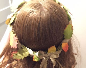 Fall Foliage Fairy Crown