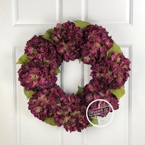 Hydrangea wreath, Front Door Wreath, Summer Wreath, Wreath Street Floral, Everyday Wreath, All Occasion Wreath, Year Round Wreath