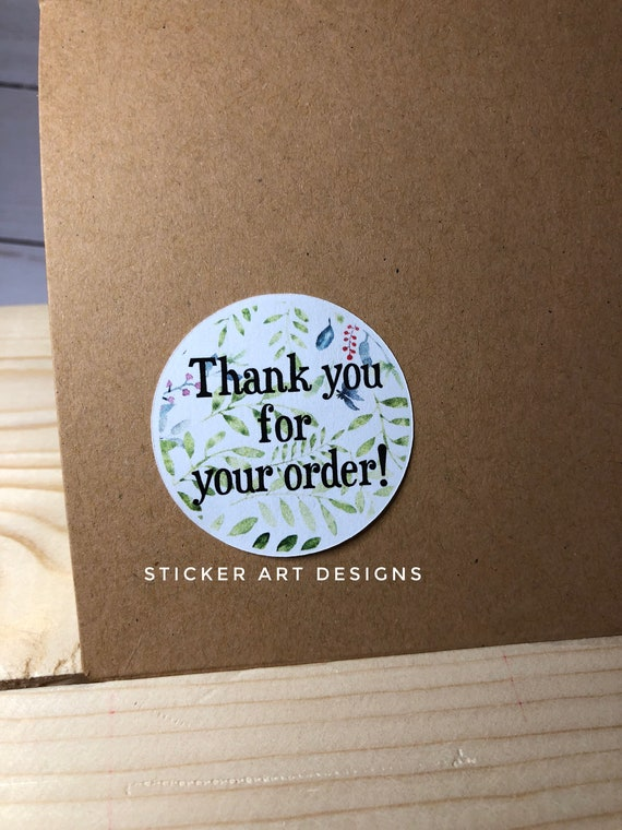 Etsy business stickers handmade shop etsy stickers packaging stickers thank you for your order stickers earth tones happy mail stickers