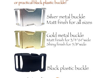 Adds on metal buckle for Marityn dog's dog collar or dog harness Contoured side released metal buckle