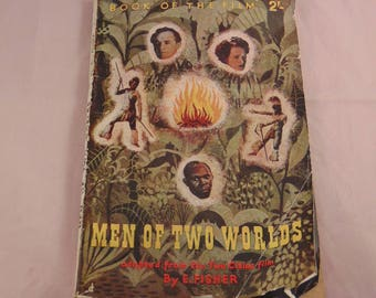 1946 Vintage Film Guide Book Men of Two Worlds by E Fisher