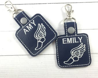 Sports Team Bag Tags - backpack tags - track and field - running - sprinting - cross country -track team - coach - school spirit
