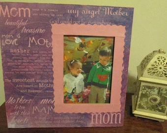 5x7 Mom Themed - Hand Decorated Picture Frame